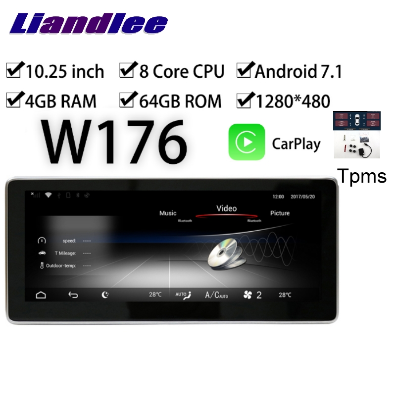 Liandlee Car Multimedia GPS Audio Radio For <font><b>Mercedes</b></font> Benz MB A Class <font><b>W176</b></font> A160 A180 A200 2012~2018 CarPlay TPMS <font><b>Navigation</b></font> NAVI image