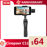 ZHIYUN CINEPEER C11 Official Mobile Gimbal for iPhone/Samsung 3 Axis Vlog Handheld Stabilizer VS isteady