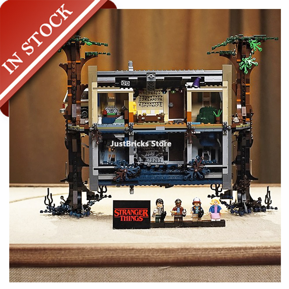 Ideas The Upside Down 75810 25010 In Stock Building Block 2200+Pcs Bricks Moive Stanger Things  Creator Toys