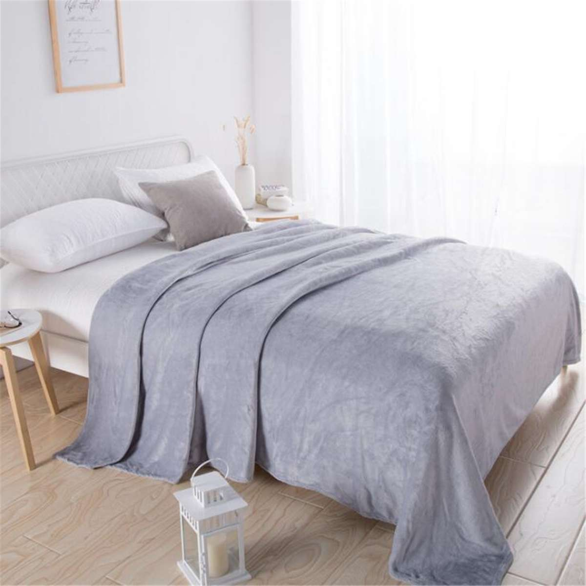 5 couleurs étudiant dortoir épaissi corail flanelle couverture douce couverture Portable voiture voyage couverture couverture lavage mécanique