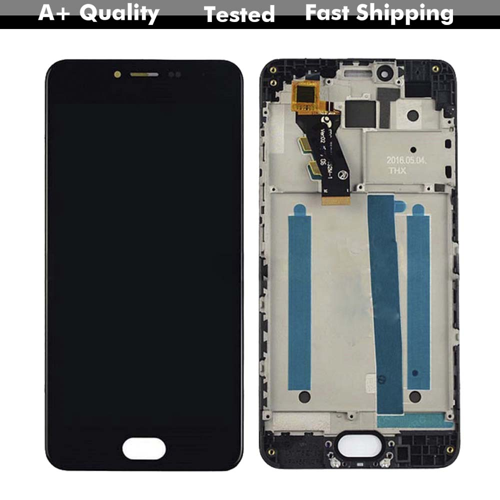 For Mei zu <font><b>M3</b></font> <font><b>mini</b></font> M688Q M688C LCD <font><b>Display</b></font> Digitizer Screen Touch Panel Glass Assembly + Frame image