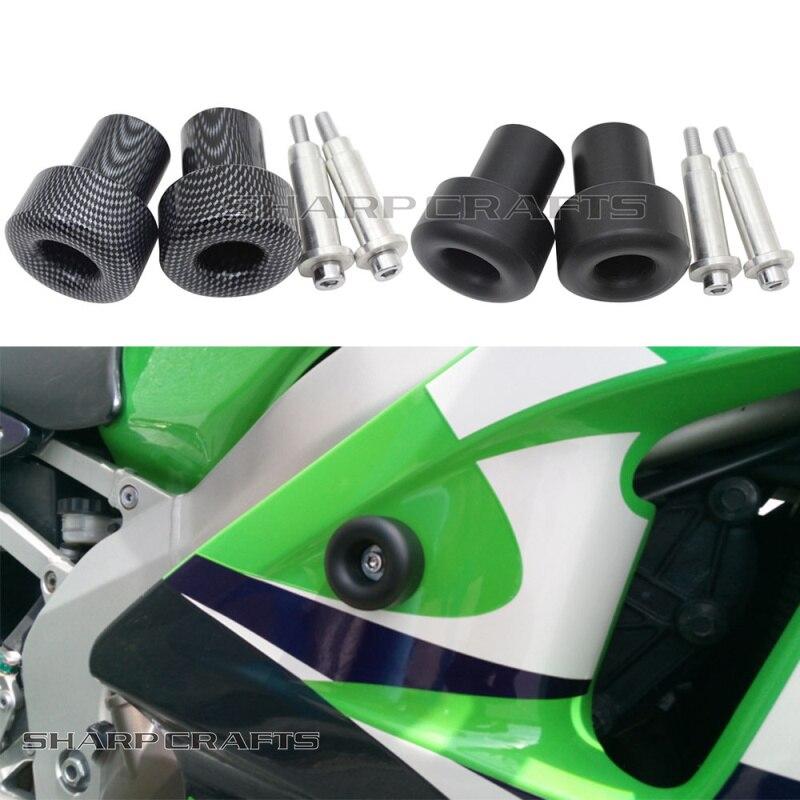 Motorbike Chromed No Cut Frame Slider For 98-02 Kawasaki Zx6R 1998-2003 Zx9R 2001-2004 Zx12R