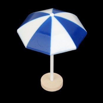 Beach Sun Umbrella Miniature Landscape Bonsai mini house Decor (Blue) цена 2017