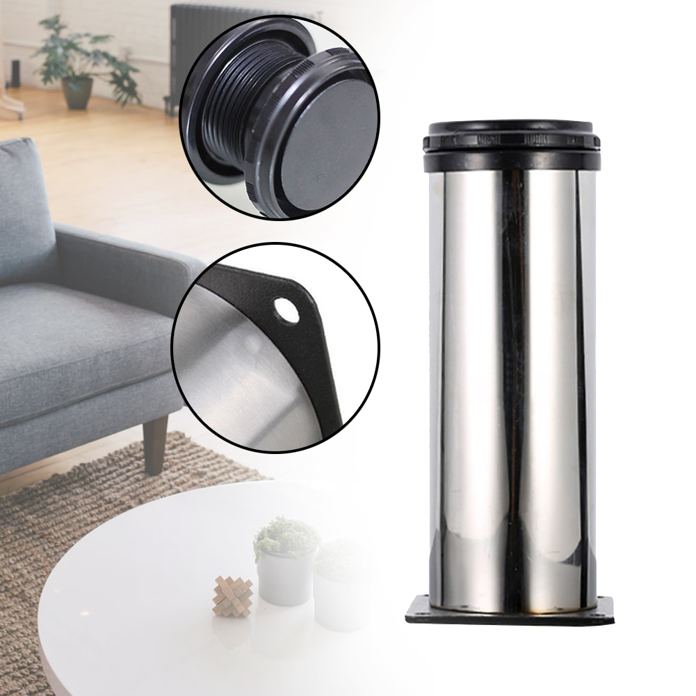 Stainless Steel Adjustable Sofa Home Hardware Hotel Anti Slip Living Room DIY Durable Support Round Furniture Foot Cabinet Legs