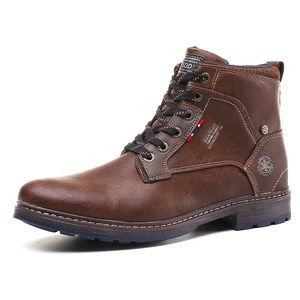 Botas de vestir de diseñador para hombre, Botines de cuero con cordones, botas Martin, zapatos de oficina, informales, para invierno