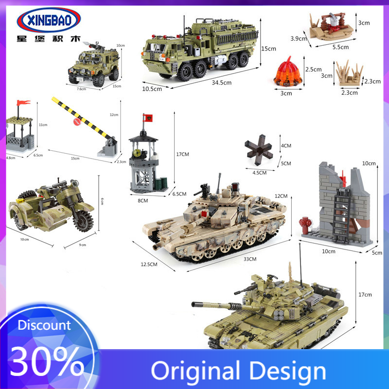 XingBao 06015 Army Series Sets Figures Tiger Tank Building Blocks bricks Children Toys SWAT Military Compatible with LEGOINGLYS
