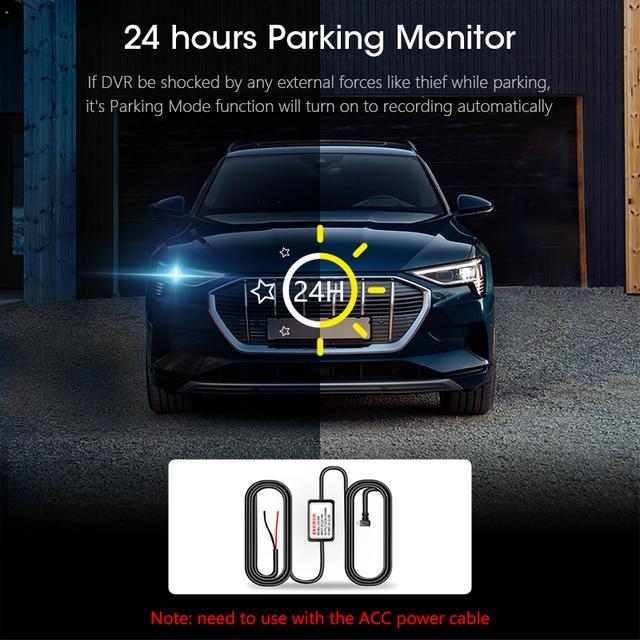 Jansite 10 inch Mirror Car DVR Streaming Media Full Screen Car Camera dash cam 1080P rear view camera Parking Monitor recorder 4