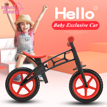 Infant Shining Two Wheels Balance Bike 4-6 Years Old Children Walker 12 Inch Riding Bicycle Height Adjustable Kids Scooter hits shine professional child s bike kid bicycle cycling safety for children age 20 month to 4 years old health bicycle 12 inch