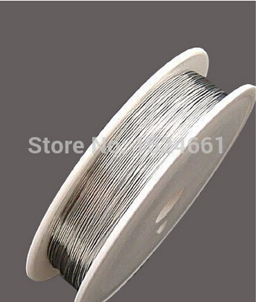 Wire 0.2/0.25/0.3/0.4/0.5/0.6/08/1.0mm, Hot- Silver Color Tone Steel Beading Wire  Sold Per Lot Of
