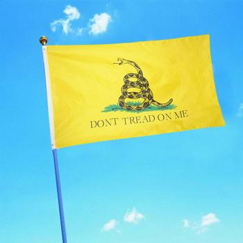 1 Pc 90 X 150cm Durable Polyester Printing Gadsden Flag Snake don't Tread On Me Decorative Flag Hanging Banners Dropshipping image