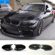 For BMW 1 3 Series E81 E82 E87 E88 E90 E91 E92 E93 Side Wing Gloss Black Mirror Cover Cap Rearview Mirror Shell Car Accessories