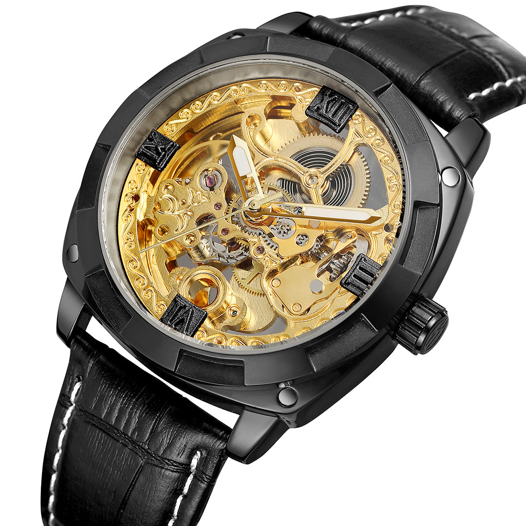 Watch Men automatic watch Mechanical Watch Gold Vintage Man Watch Mens Watch Top Brand Luxury montre homme erkek kol saati