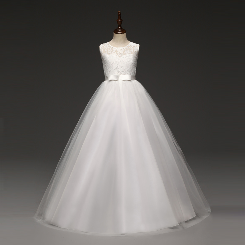 Summer Girls Dress Lace Princess Dress Tutu Party Wedding Dress Costume Kids Dresses For Girls Children Clothing 10 12 14 Years 5