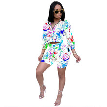 Adogirl European style doodle women suits rainbow stripe lady two pieces sets half sleeve zip-up fitness skinny sports set