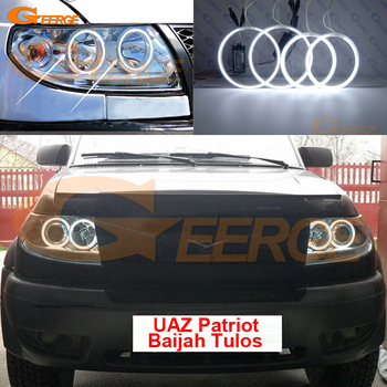 цена на For UAZ Patriot Baijah Tulos 2007-2014 Excellent Ultra bright headlight illumination CCFL angel eyes kit Halo Ring