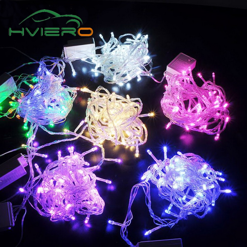 <font><b>10M</b></font> <font><b>100LED</b></font> Home Decoration Holiday Light RGB Led Outdoor Party Wedding Christmas Lightings Garden lights <font><b>220V</b></font> EU 110V US Plug image