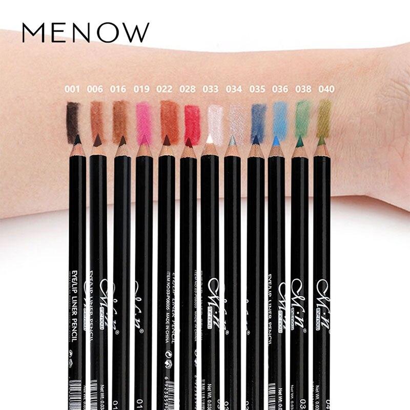MENOW 12 Pcs/Set Waterproof Eye Pencil Makeup Pen Eyeliner Eye Pencil Waterproof Beauty Pen Eyeliner Eye Liner Pen Cosmetics 3