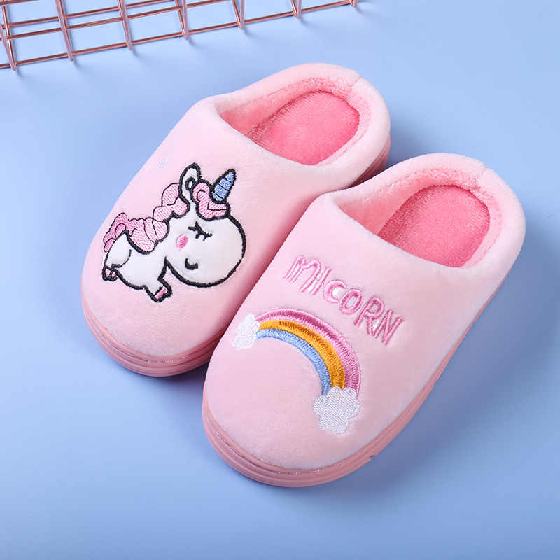 Winter Unicorn Slippers Kids Toddler