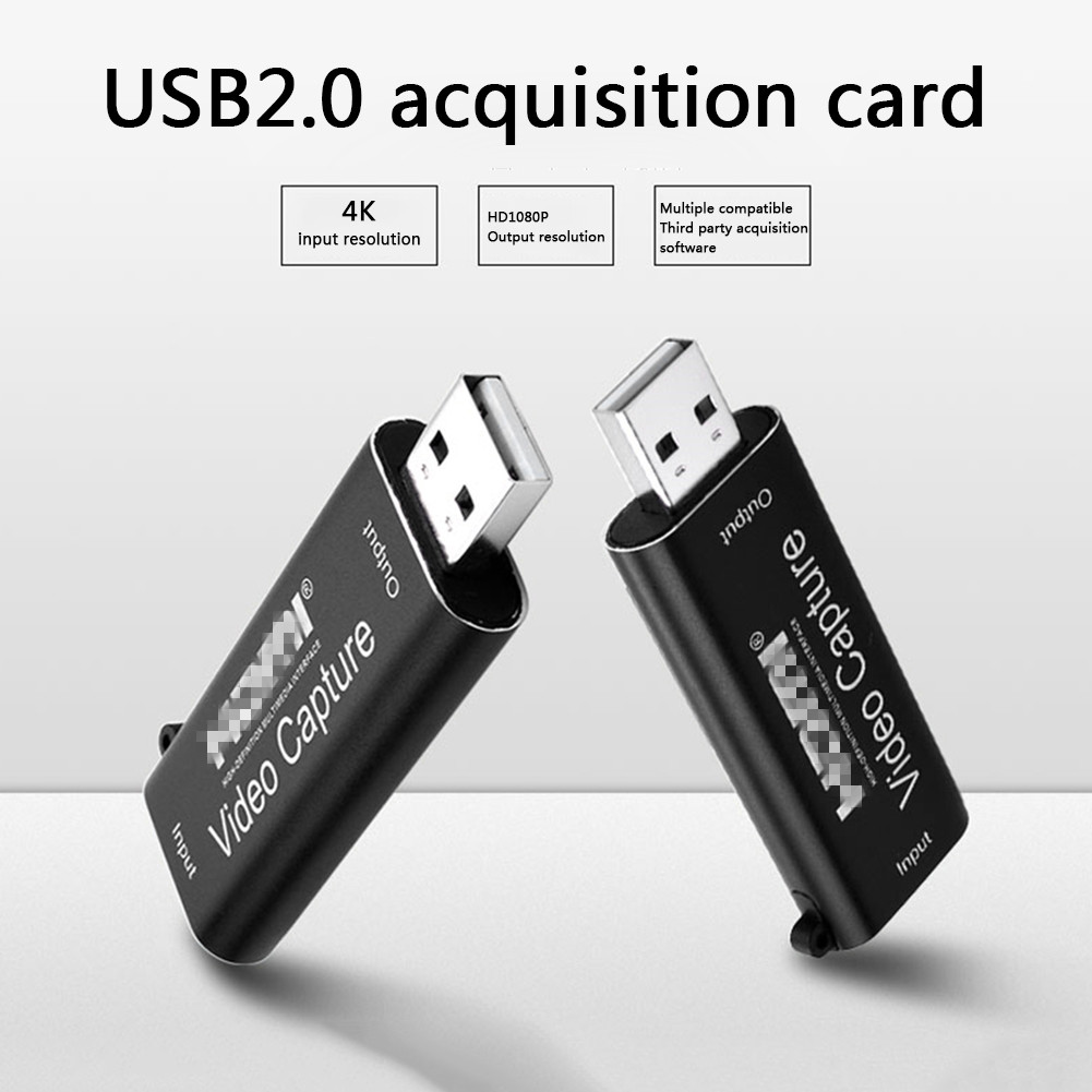 Video Capture Card 4K USB2.0 HDMI-compatible Grabber Record Box Households Computer Safety Parts for OBS HD Camera Recording 4