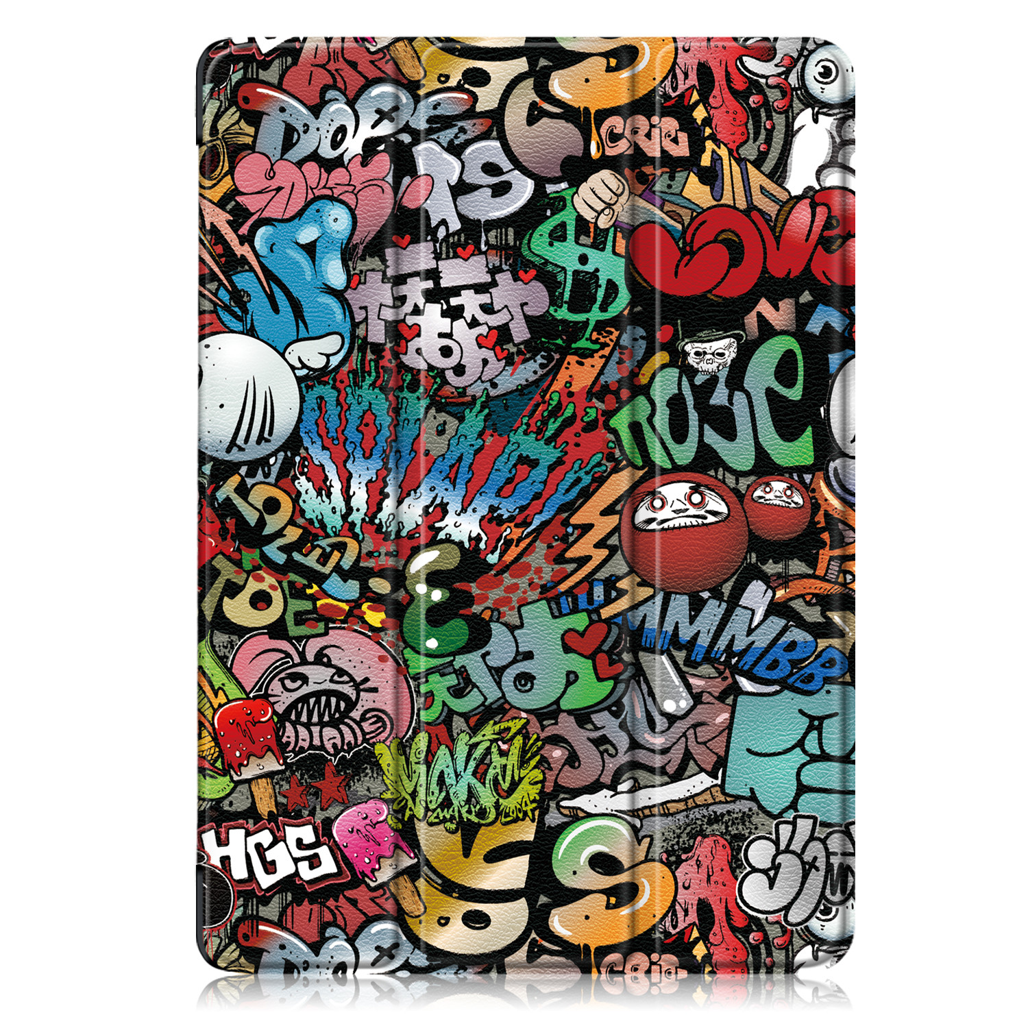 Graffiti Red Tablet Case Funda For IPad 10 2 Inch 2020 with Pencil Holder Magnetic Folding Stand Smart