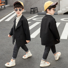 Clothing Coats Kids Children's Solid Fashion for Boy 3-13-Years-Old 2-Colors Turn-Down-Collar