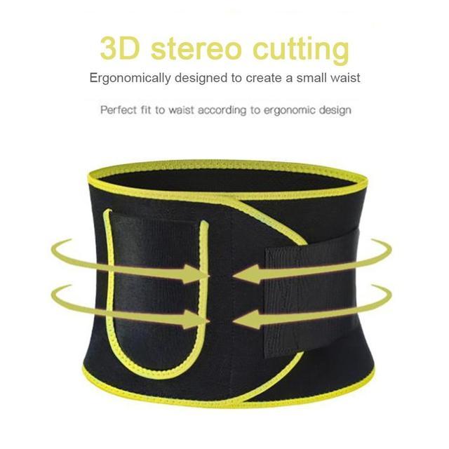 Gym Fitness Sport Shapewear Sweat Belt Waist Trimmer Cincher Back Support Trainer Underwear Body Building 5