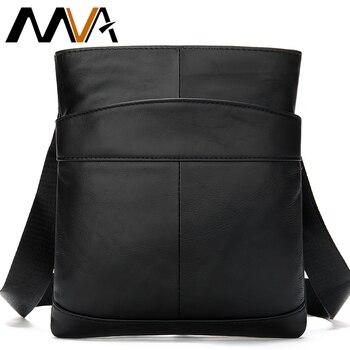 Мужская сумка-мессенджер MVA, из натуральной кожи, 703