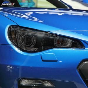 2 Pcs Car Headlight Tint Black Protective Film Protection Transparent TPU Sticker For Subaru BRZ GT86 2013-Present Accessories