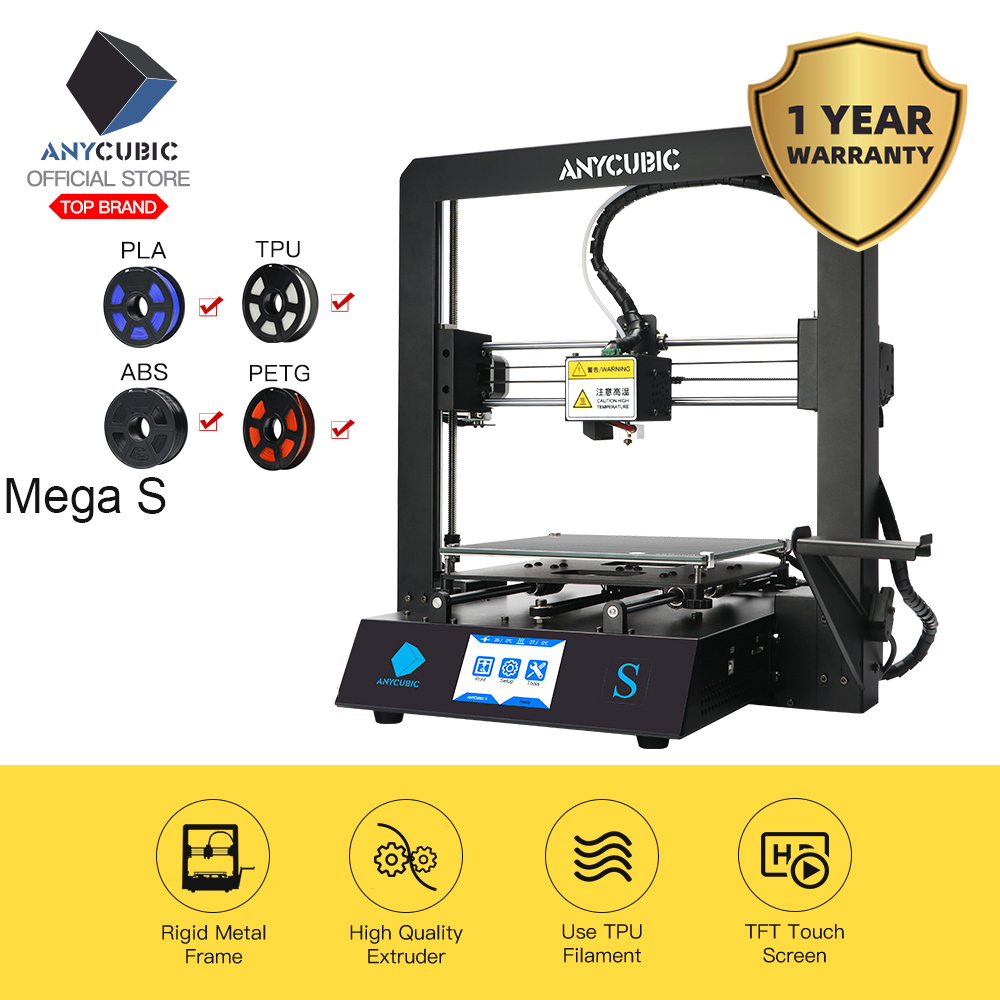 ANYCUBIC 3d-Printer Metal-Frame Touch-Screen Mega-Upgrade TPU DIY Large-Size High-Precision title=