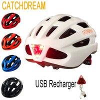 CATCHDREAM Rücklicht Radfahren Fahrrad Helm Ultraleicht EPS + PC MTB Rennrad Integral-form Reiten Sicher Kappe Fahrrad helme