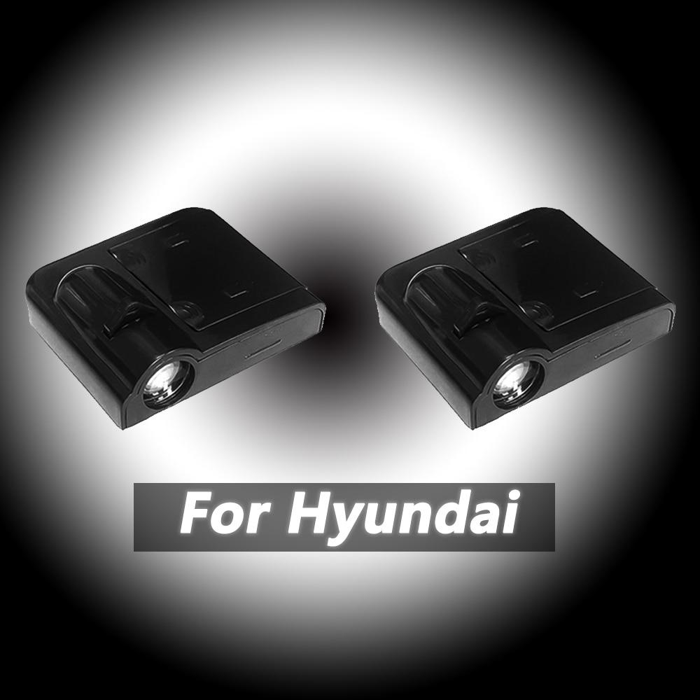 2pcs Wireless Car Logo Door Led Welcome Light Laser Projector For Hyundai Ix20 Ix25 IX35 IX55 Tucson Sonata EF NF Santa Fe SM CM
