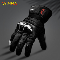 New Waterproof Heating Gloves 5 Fingers&Hand Back Heated 65 Celsius for Men Women Winter Motorcycle Riding Skiing Thermal Gloves