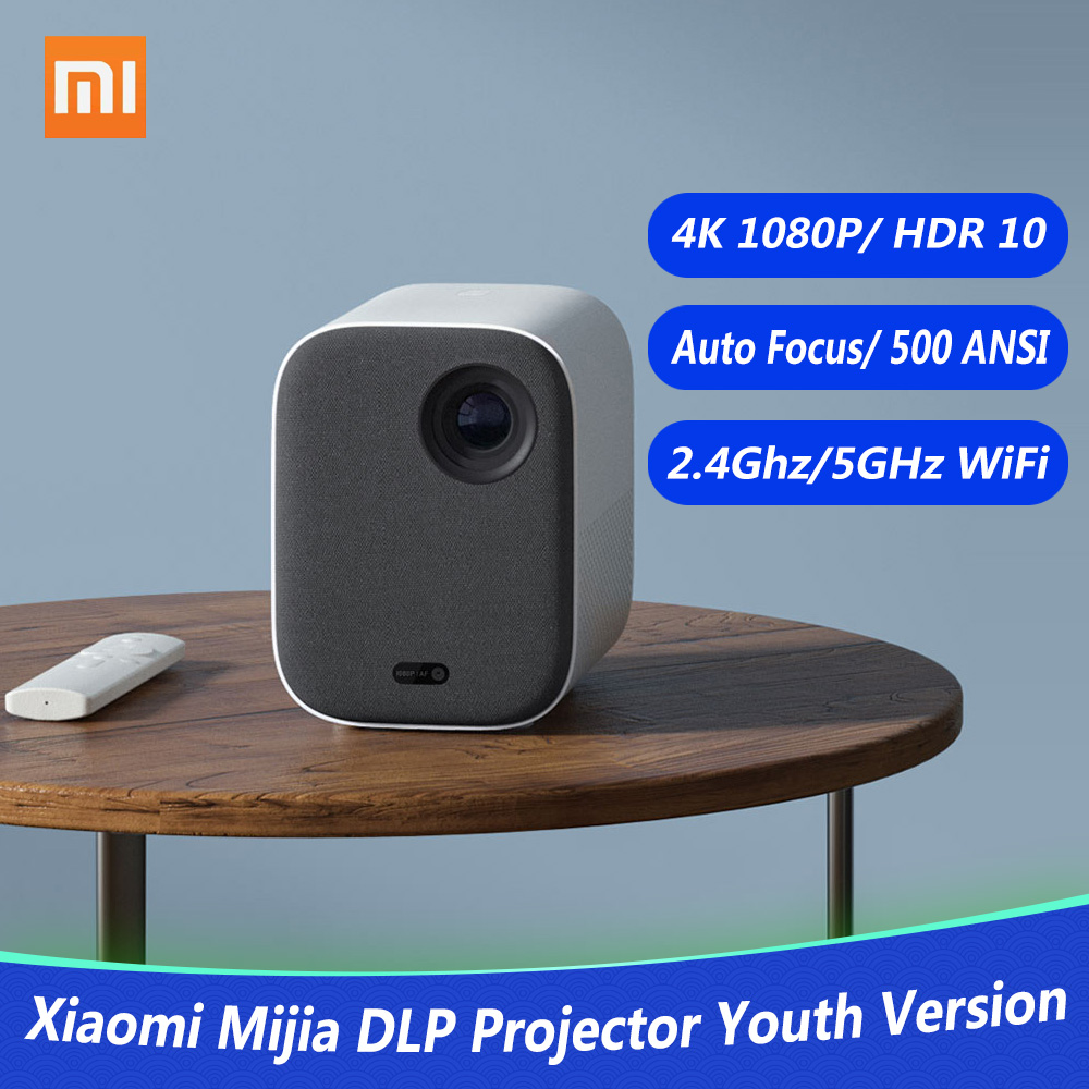 Image 5 - Xiaomi Mijia DLP Projector 1080P 4K Video 500ANSI Lumens Mount Projection HDR10 2.4G 5G WiFi 2GB+8GB Portable Projector for HomeSmart Remote Control   -