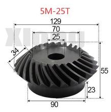 5M-25Teeths Inner Hole: 25mm Precision Spiral Bevel Gear Spiral Bevel Gear 0 5m 27t aluminum alloy precision spur gear hole d 3mm
