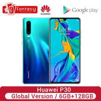 Global Version Huawei P30 6GB 128GB Krin 980 Smartphone 30x Digital Zoom Quad Camera 6.1'' Full Screen OLED NFC Cellphone