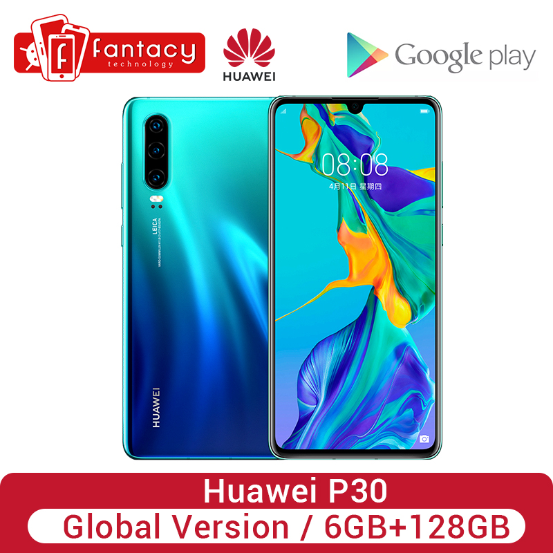 Globale Version Huawei P30 6GB 128GB Krin 980 Smartphone 30x Digital Zoom Quad Kamera 6.1 ''Full Screen OLED NFC Handy image