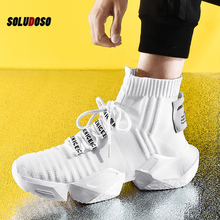 High Top Fashion Men's Sock Sneakers Men Casual Shoes Breathable Men Shoes Non-slip Comfortable Footwear Trend zapatillas man casual shoes men s high top fashion sneakers trend comfortable outdoor non slip breathable men shoes zapatos de hombre