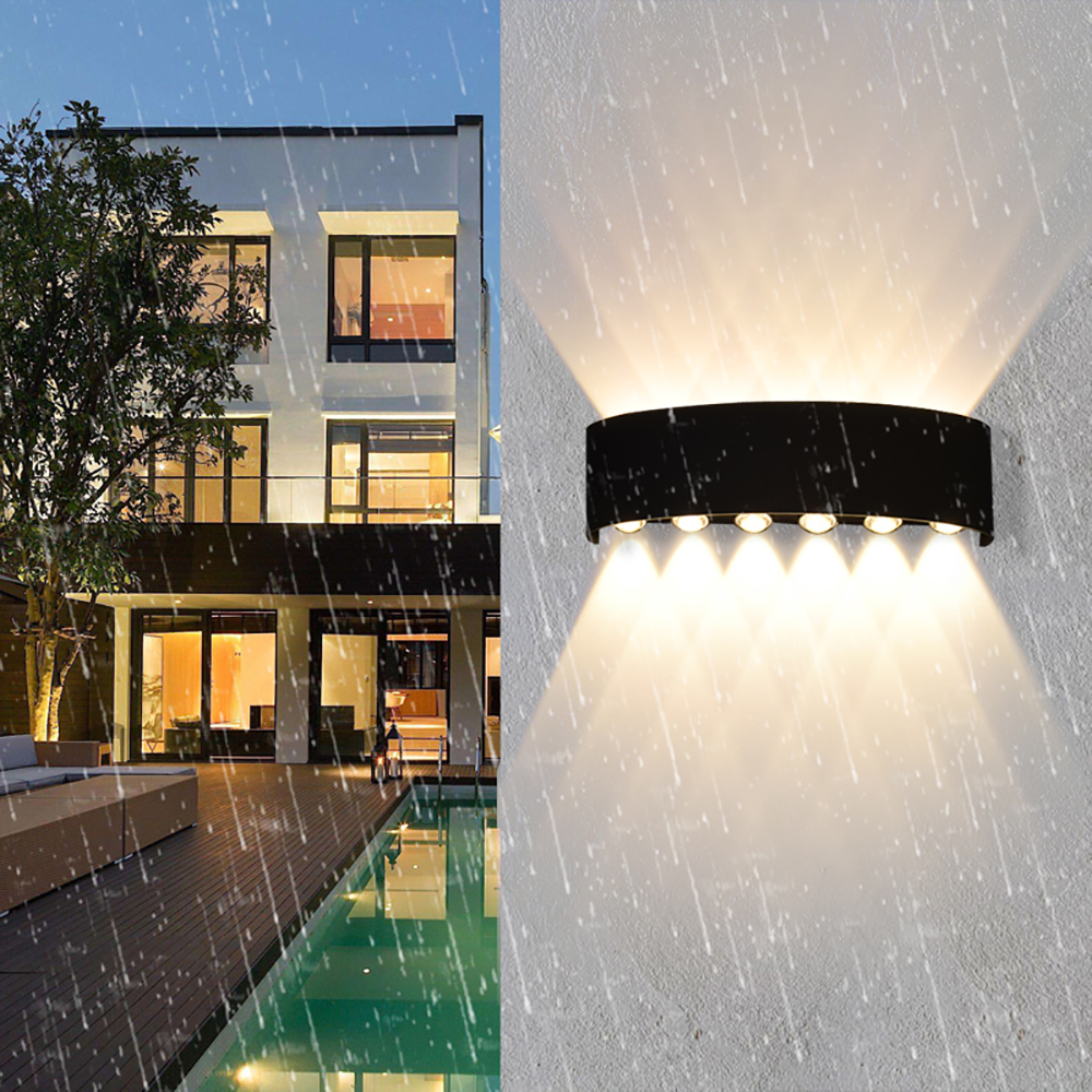 Outdoor Wall Lamp 85V-265V IP65 Waterproof Outdoor Lamp 2W / 4W / 6W / 8W / 10W / 12W Outdoor LED Lighting