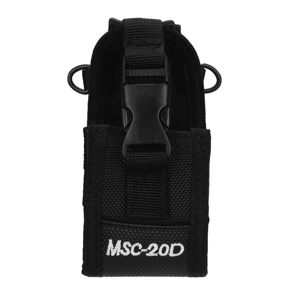 Nylon Wear-Resistant Professional Arm Pack Bag Universal Walkie Talkie Pouch Bags For Walkie Talkie Black