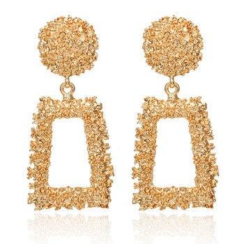 2019 Promotion Pendientes Aretes Fashion Statement Earrings Big Geometric For Women Hanging Dangle Drop Earing Modern Jewelry 2