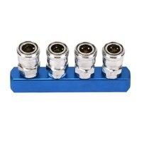 Passe conector de conexão rápida para a ferramenta de acoplamento de mangueira de ar de montagem pneumática