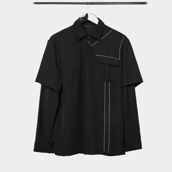 Owen Seak Men Casual Shirts High Street Hip Hop Punk Rock Style long sleeve Men's Clothing Spring Male Spring Full Shirts