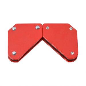 Image 5 - 4 adet/grup 4 kaynak mıknatıs manyetik kare tutucu ok kelepçe 45 90 135 9LB manyetik kelepçe elektrik kaynak demir araçları
