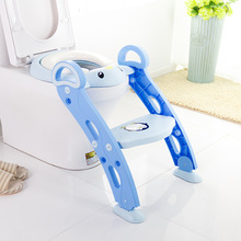 Potty Training Seat Baby Portable Toilet Child Toilet Soft Seat Foldable Kids Toilets With Ladder round bathroom adult toilet seat with built in child potty training seat elongated white toilet seat cover bathroom accessories