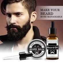 Натуральный органический мужской рост борода масло бальзам для бороды набор питание против сушки бороды средство против выпадения волос рост бороды средства ухода за бородой CX41