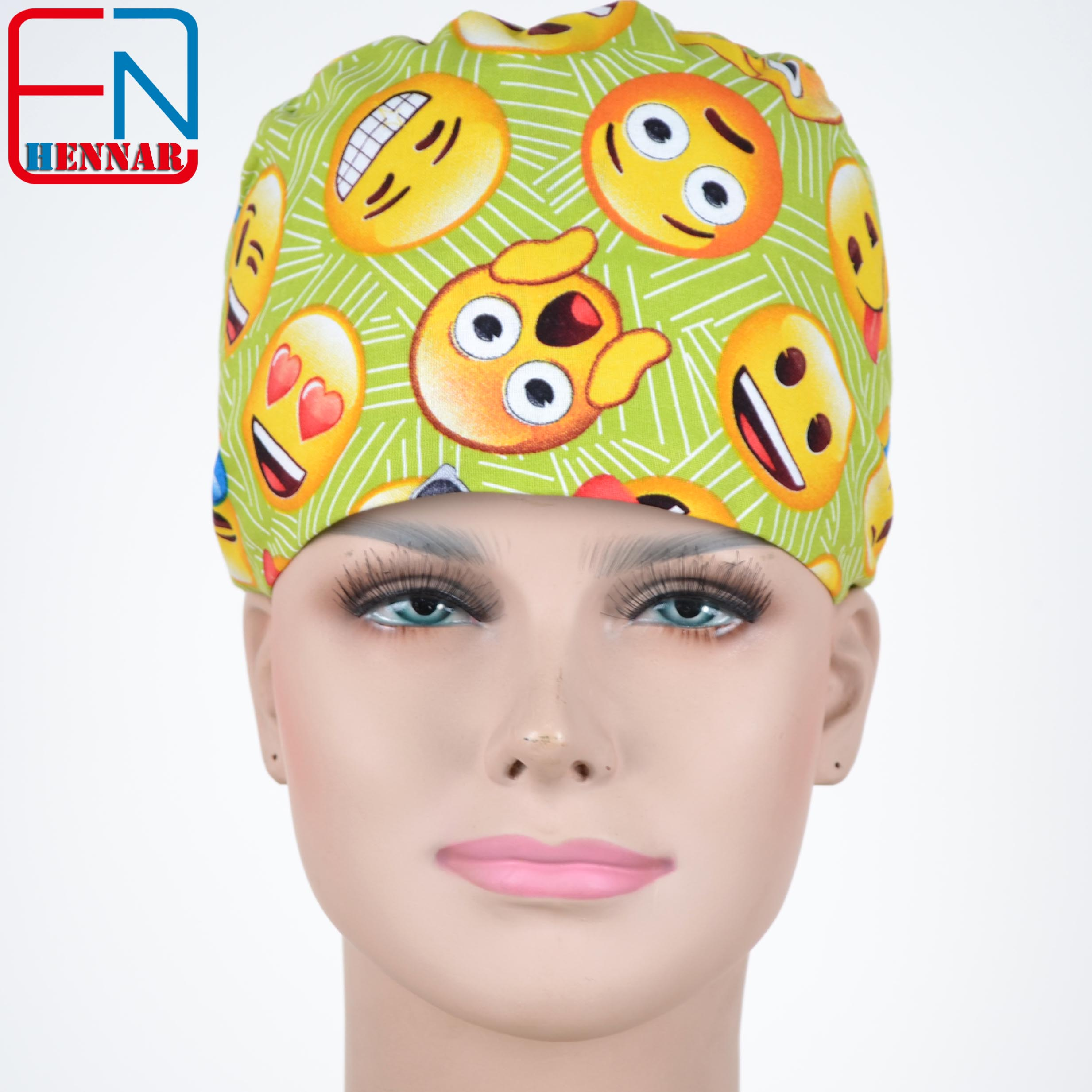 Matin Doctor Cap And Mask Men With Sweatbands Peony