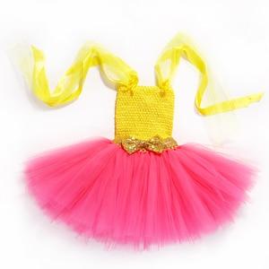 Image 5 - Princess Girls Lol Tutu Dress with Headband Cute Girl Birthday Party Dresses Kids Carnival Halloween Lol Dolls Cosplay Costume