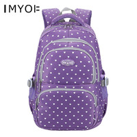 Fashion Women Backpack Oxford Cloth Dot School Bags for Teenage Girls Children Book Bags Ladies Laptop Backpack Travel Bags