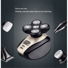 Rechargeable Electric Shaver Five Floating Heads Razors Hair