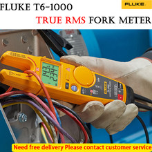 Fluke t6-1000 braçadeira ammeters ac/dc corrente contínua testador elétrico braçadeira instrumento verdadeiro rms garfo medidor fluke sofyt caso